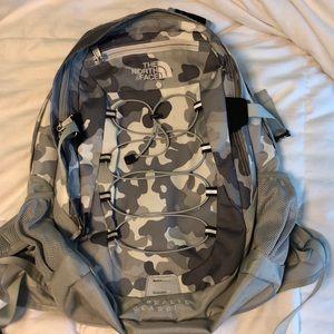 North Face borealis classic grey camo backpack
